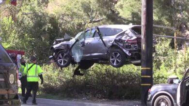Groźny wypadek Tigera Woodsa. Auto kompletnie rozbite, sportowiec ma połamane obie nogi.