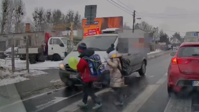 Centymetry od tragedii – policja ustaliła kierowcę, który niemal potrącił dwójkę dzieci na przejściu dla pieszych