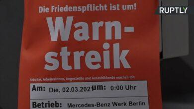 Pracownicy koncernu Daimlera protestowali w Berlinie