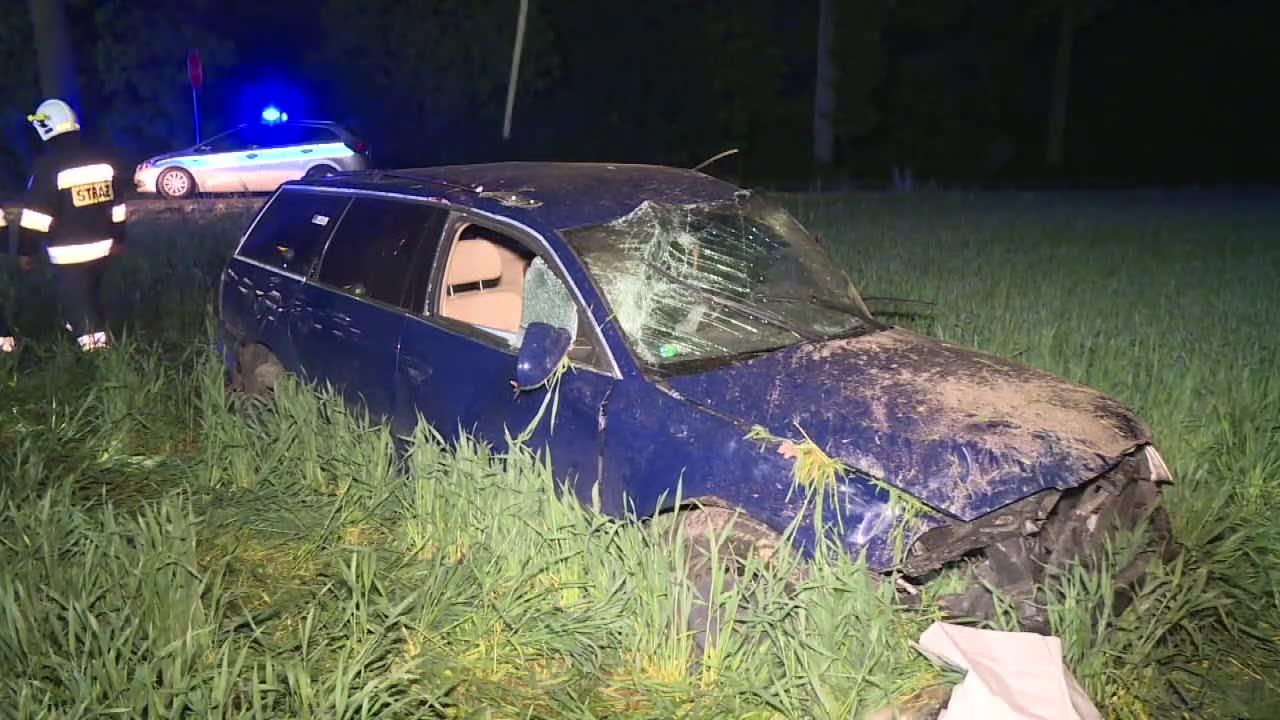 Czołowe zderzenie dwóch aut pod Krotoszynem. Jedna osoba nie żyje