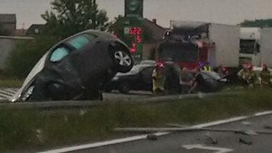 Wypadek na DK92 we Wrześni, duże utrudnienia w kierunku Poznania