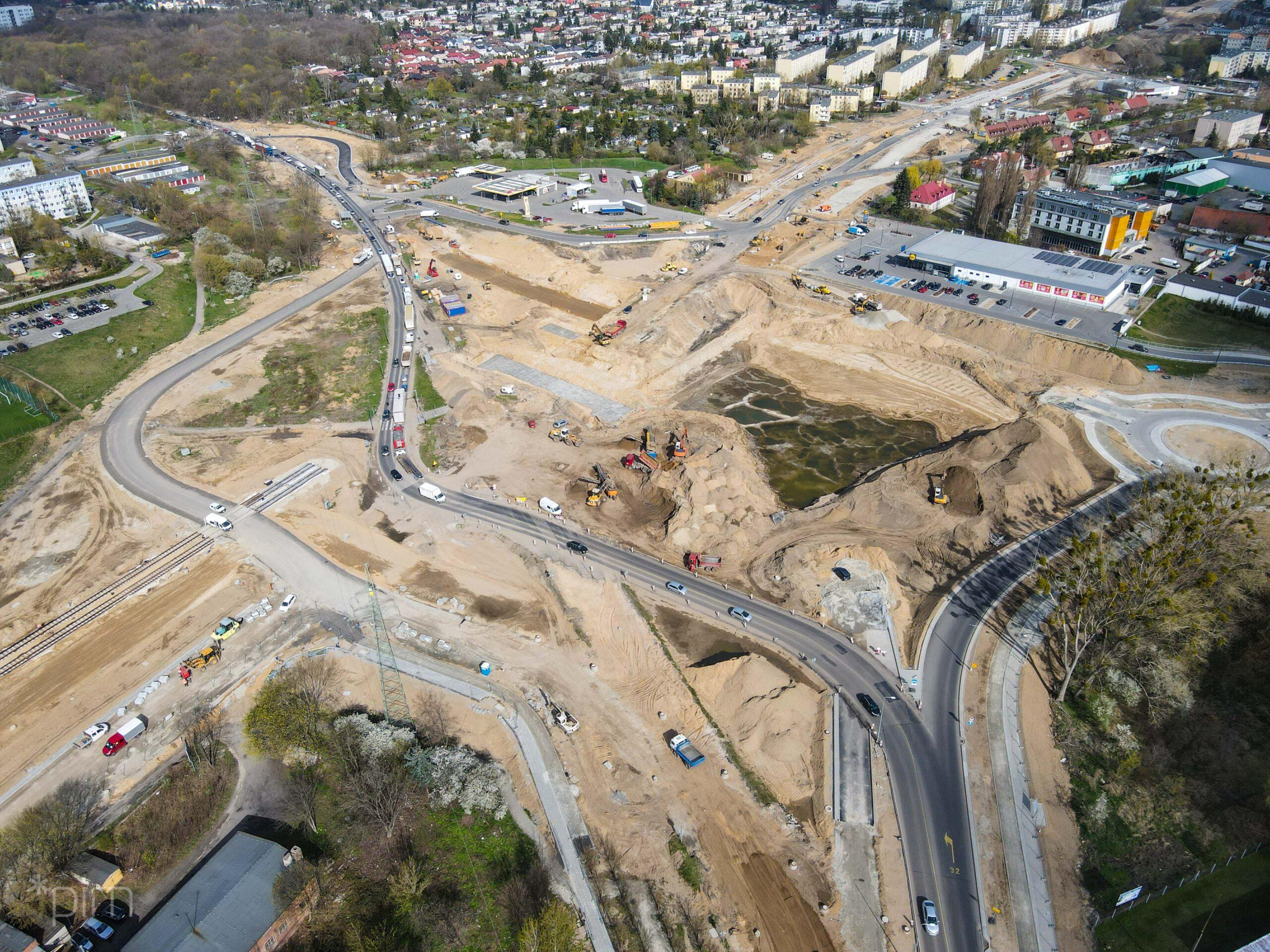 Kolejne zmiany w rejonie budowy trasy tramwajowej na Naramowice i otwarcie ul. Wilczak