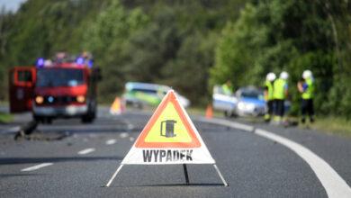 Wypadek busa przewożącego dzieci. 8 osób rannych.