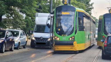 Kolizja tramwaju z busem na 28 Czerwca 1956r