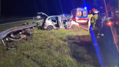 Kobieta i dziecko ranne w wypadku na S5. Kierowca chciał uniknąć zderzenia z lisem