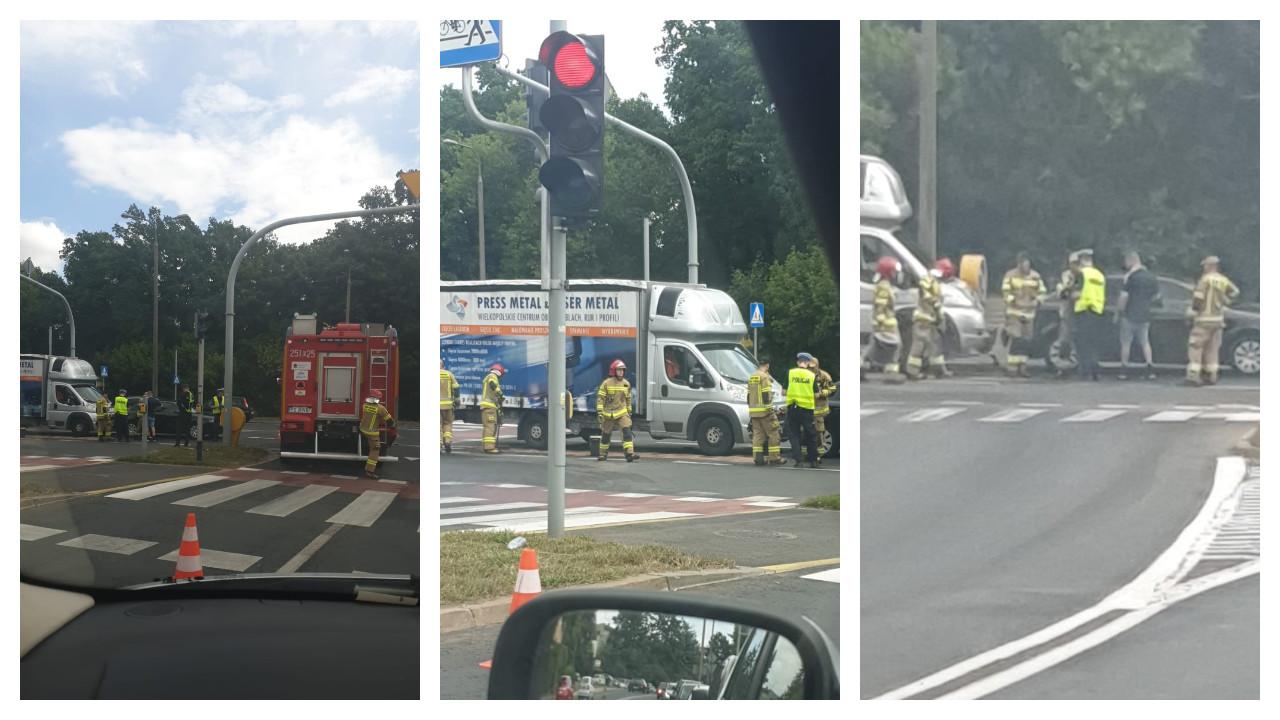 Wypadek na skrzyżowaniu ul. Czechosłowackiej i Dolna Wilda