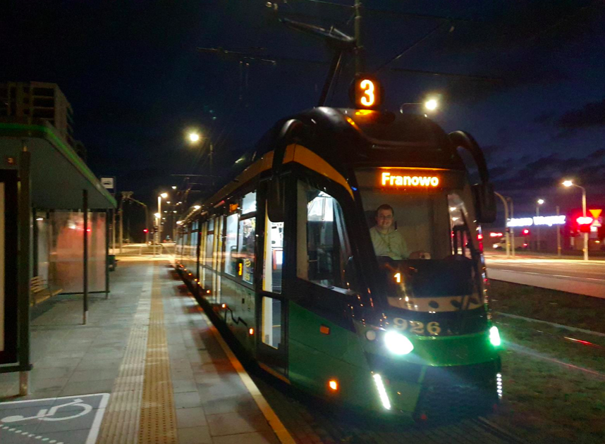 W nocy tramwaje pojechały w stronę Naramowic