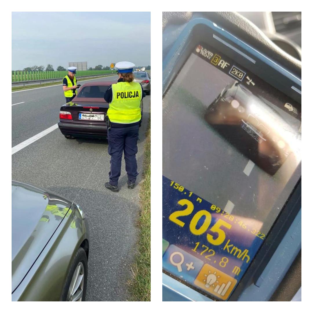 Jechał ponad 200 km/h na autostradzie, a to tylko jedno z jego wykroczeń
