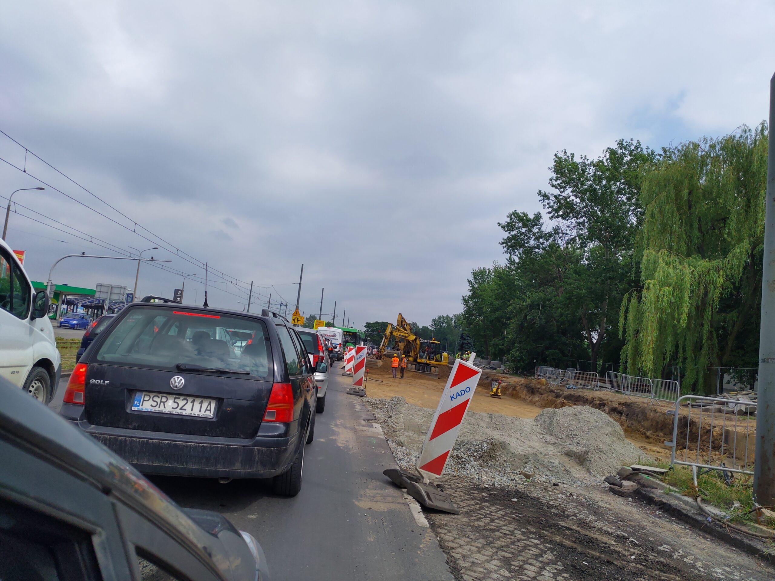 Kolejne zmiany przy Rondzie Rataje. Jeszcze większe utrudnienia od strony centrum miasta