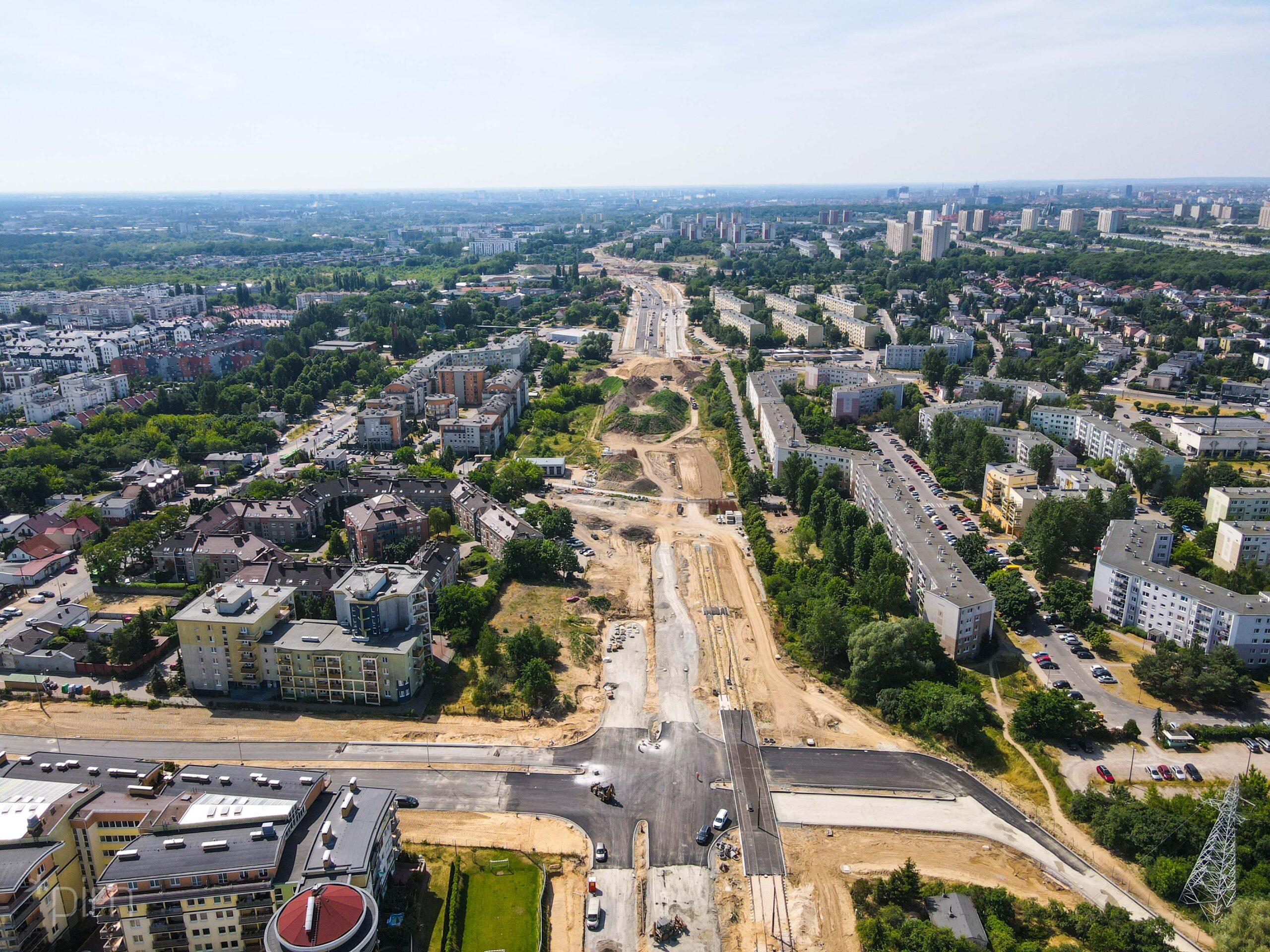 Likwidacja ruchu wahadłowego w rejonie budowy trasy tramwajowej na Naramowice