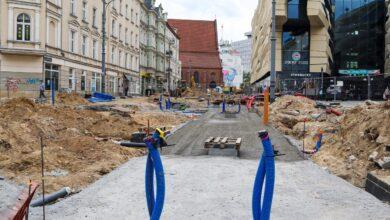 Prace na ul. św. Marcin i Al. Marcinkowskiego – jak wygląda plac budowy?