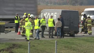 Policja o wypadku na A2 z udziałem cudzoziemców. Odnaleziono i zatrzymano kierowcę
