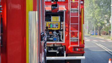 Akcja straży pożarnej na przy ul. Bukowskiej, utrudnienia w ruchu