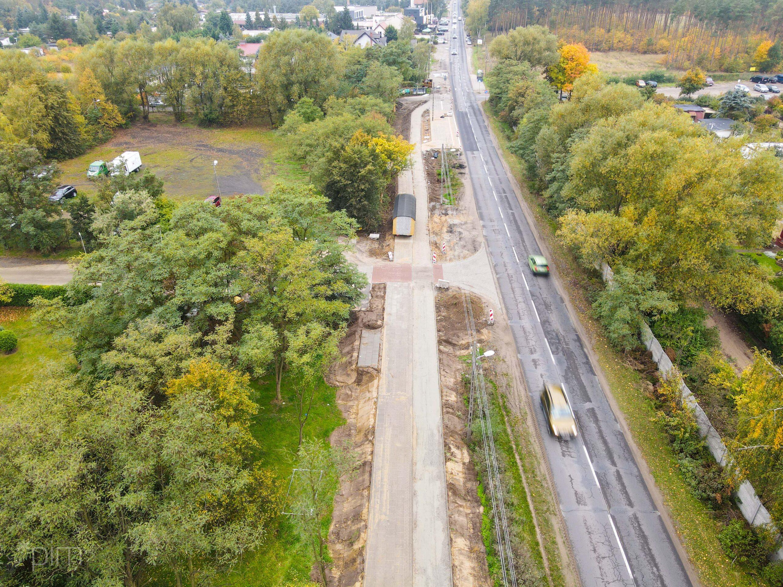 Budowa drogi rowerowej wzdłuż ul. Złotowskiej na zaawansowanym etapie. Będą kolejne zmiany w ruchu